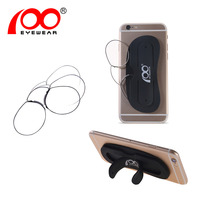 Ship from EU Men Nose Clip Glasses Thin Portable Reading Glasses with Phone Stands Glasses Case Mini Pocket Pince Nez Optics