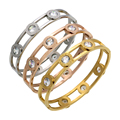Mopera Moveable Crystal Cuff Bracelet Gold Plated Bangle Stainless Steel Bracelet For Women Bracelets & Bangles Wholesale