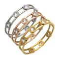 Mopera Moveable Crystal Cuff Bracelet Gold Plated Bangle Stainless Steel Bracelet For Women Bracelets & Bangles Wholesale