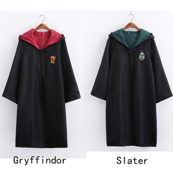 New Arrival Robe Cape Cloak Gryffindor Slater Ravenclaw Hufflepuff Cosplay Costumes Kids Adult Free Shipping