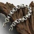 10 мм ручной таиланд 925 Siilver браслет старинных серебро повезло символ браслет человек браслет