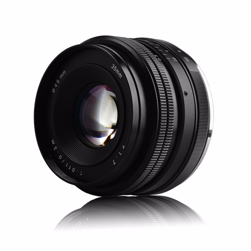 Portable 35mm F1.7 E-Mount Prime Lens For Sony Mirrorless Camera Manual Focus Lens Durable Camera AccessoriesPortable 35mm F1.7 E-Mount Prime Lens For Sony Mirrorless Camera Manual Focus Lens Durable Camera Accessories