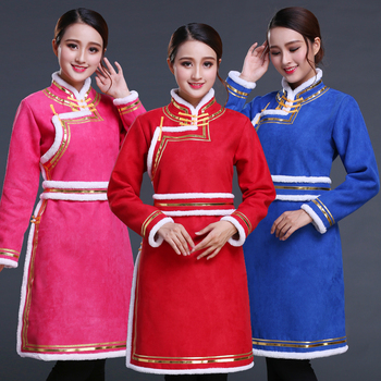 Woman Asian National Dress Mongolia style tang suit Top Cosplay fancy costume Chinese ethnic clothing elegant Robes Outfits