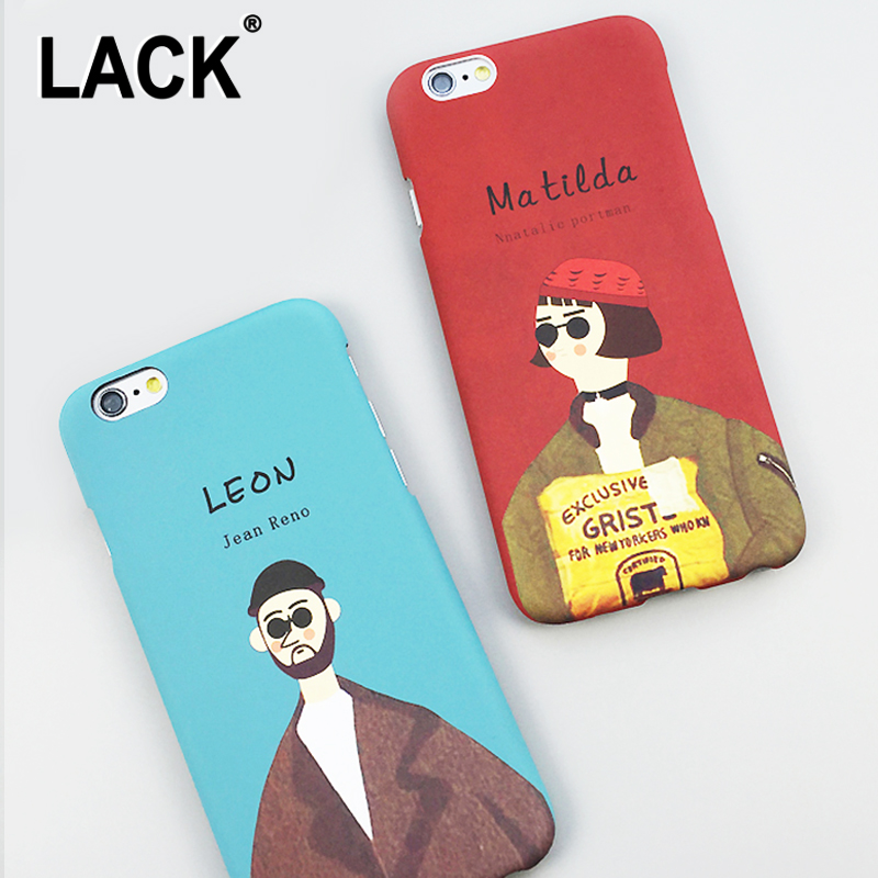 LACK Cute The Professional Killer Case For iphone 6 Case For iphone 6S Plus Cover Leon and Mathilda Cartoon Hard PC Phone Cases ...