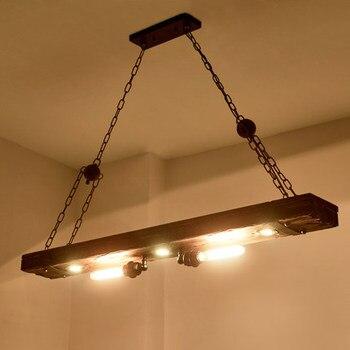 Loft Decor Holz Drop Edison Industrie Vintage LED Anhänger Leuchten Esszimmer Hängelampe Hause Innen Beleuchtung
