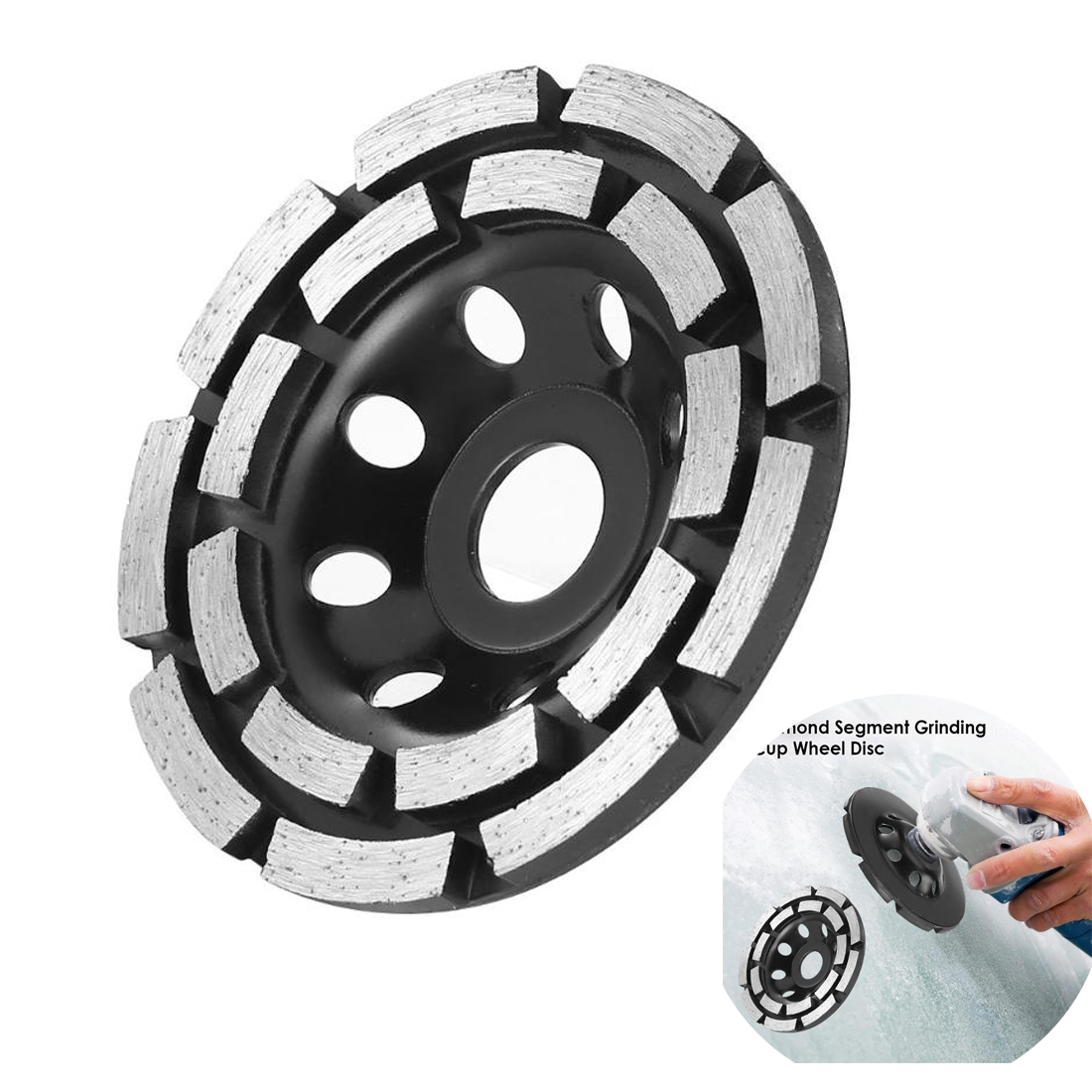 115/125/180mm Diamond Grinding Disc Abrasives Concrete Tools Grinder Wheel Metalworking Cutting Grinding Wheel Cup Saw Blade