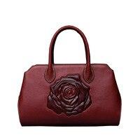 Znane marki najwyższej jakości Skóra Bydlęca kobiet torby 2015 new retro Chiński styl torebka torba Tłoczone Torba na ramię Królewski