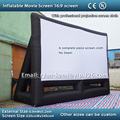 Envío gratis 16:9 pantalla de proyección inflable pantalla de cine inflable pantalla de cine inflable 6.2 m profesional paño de la pantalla