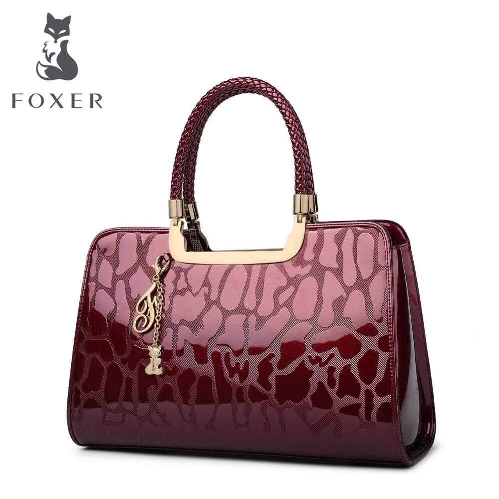 65aae42a92 FOXER marque femmes en cuir de vache sac à main de luxe sac à bandoulière  femmes fourre tout sacs à main femmes sacs dans Sacs à bandoulière de  Baggages et ...