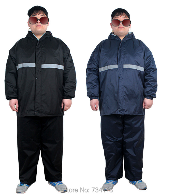 hot-selling clearance limited guantity first look US $42.7 25% OFF Maximum size raincoat 5XL big men 120kg weight Flexible  retractable riding rainsuit Fishing camping fat man Obesity raincoat 6XL-in  ...