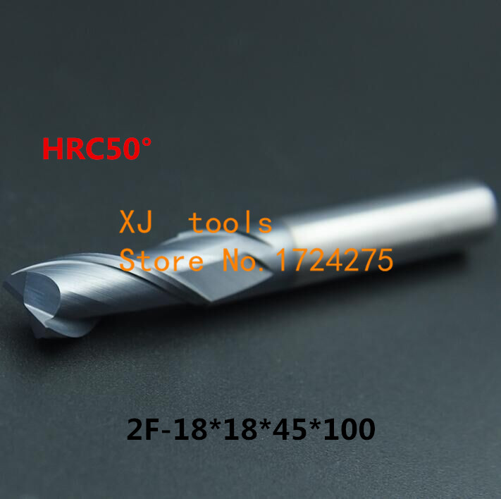 HRC50 2F-18*18*45*100 Alloy Carbide Milling Tungsten Steel Milling Cutter End Mill coating:nano,The Lather,boring Bar,machineHRC50 2F-18*18*45*100 Alloy Carbide Milling Tungsten Steel Milling Cutter End Mill coating:nano,The Lather,boring Bar,machine