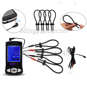 Image 4 - Electric Shock Penis Rings Massage Pad Anal Butt Plug,Electro Shock Gloves Adult Games Sex Toys For Men Couples