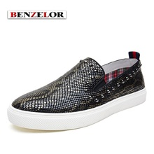 BENZELOR Brand Chaussure Homme 2017 Designer Loafers Genuine Leather Soft Men Shoes Fashion Casual Quality Schoenen Male SD6009