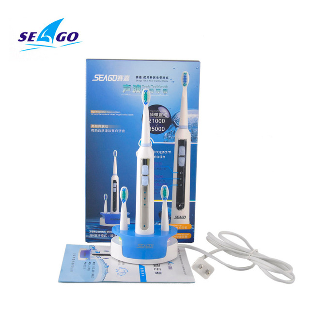 Sonic Electric Toothbrush ultrasonic Tooth brush oral hygiene care Inductive charging Washable Seago SG-909