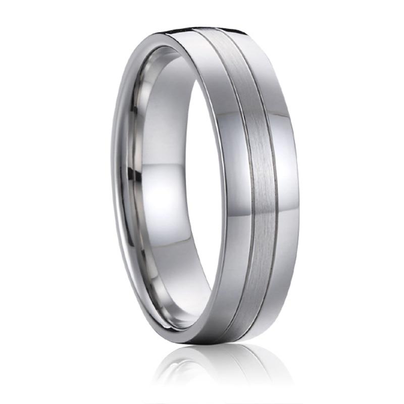 Titanium nakit poročni pas moški obletnica modni prstan belo zlato - Modni nakit - Fotografija 2