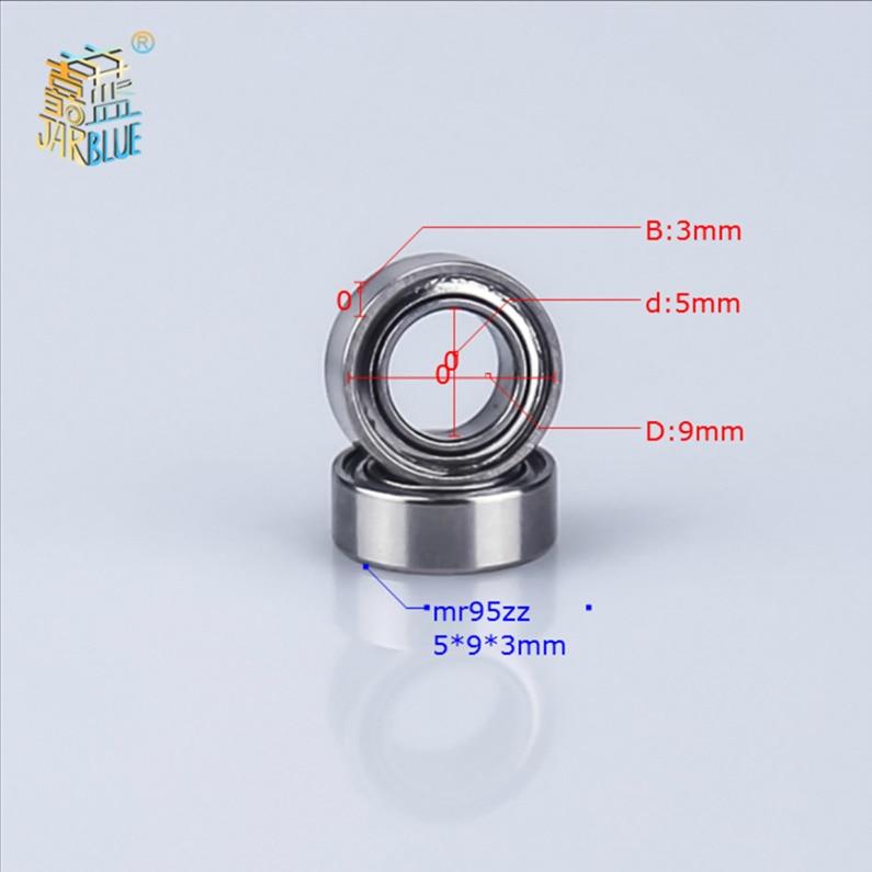 5pcs/lot MR95zz Bearing 5*9*3mm Deep Groove Ball Miniature Mini Bearings MR95zz MR95ZZ5x9x3mm High Quality Bearing Steel