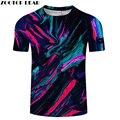 Разноцветная футболка с Мужская 3D футболка; летняя футболка; повседневные топы с короткими рукавами; футболки с круглым вырезом и принтом; у...