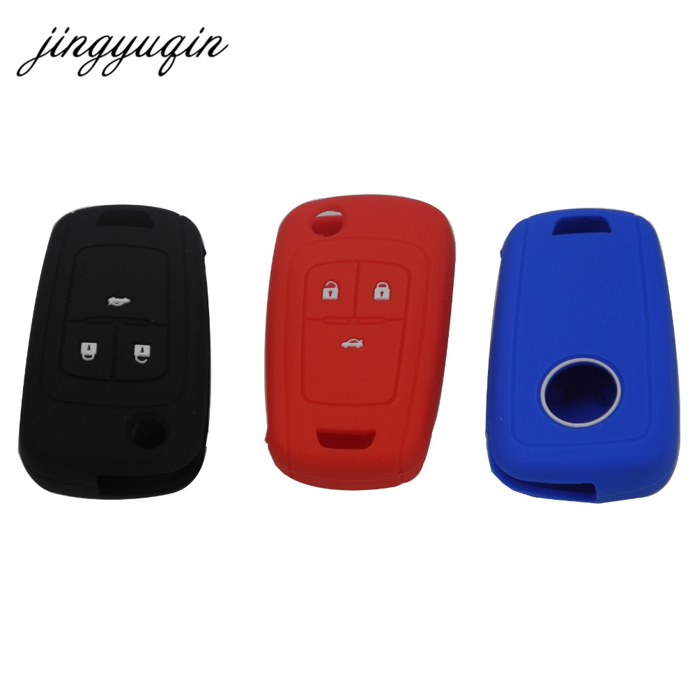 jingyuqin Skin Silicone Key Cover Case for Chevrolet Cruze fit Buick Opel VAUXHALL Astra Corsa Antara Meriva Insignia fob silicon car key case cover for opel astra corsa antara meriva zafira astra j mokka insignia for chevrolet cruze aveo tr 3 button