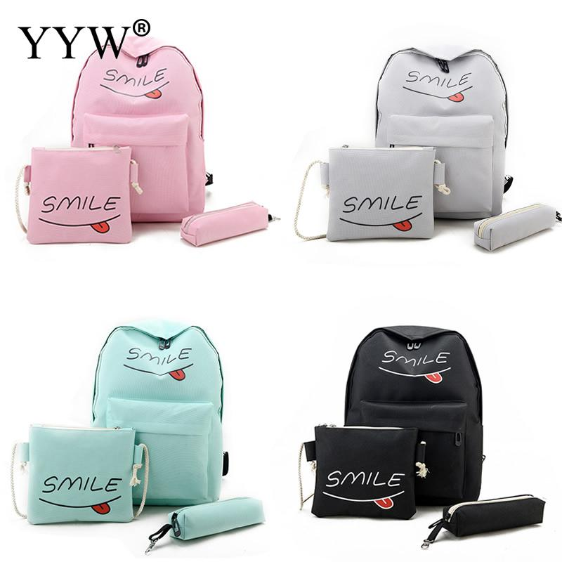3pcs Wholesale Women Oxford Backpacks Large School Bags For Teenager Girls Travel Laptop Backbag Mochila Rucksack Bolsas Femme