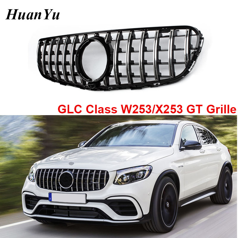 W253 X253 GT Style Front Bumper Grille for Mercedes-benz GLC Class with Camera & No Camera Grill 2016 2017 2018 image