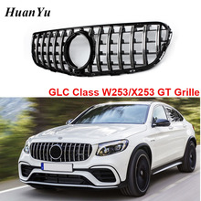 W253 X253 GT Style Front Bumper Grille for Mercedes-benz GLC Class with Camera & No Camera Grill 2016 2017 2018 цена в Москве и Питере