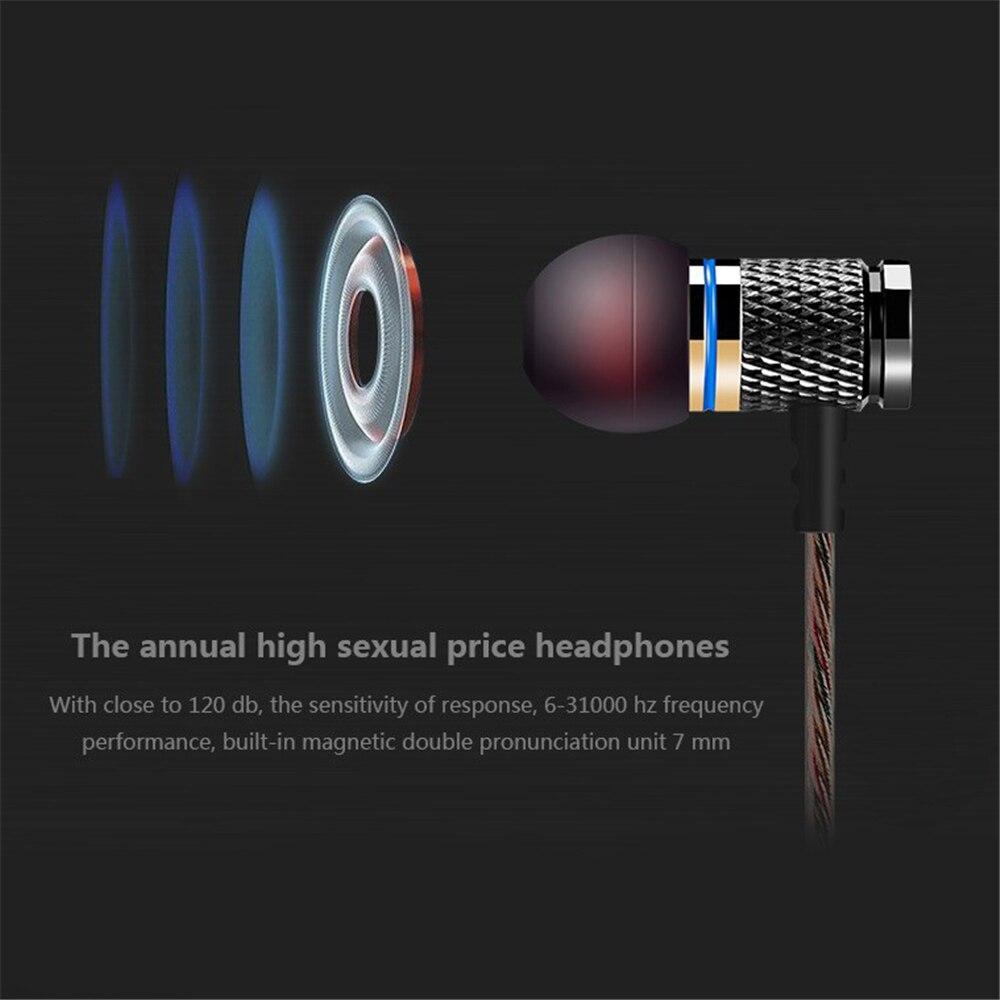 QKZ DM6 professionell i öron hörlurar metall tung bas ljudkvalitet - Bärbar ljud och video - Foto 5
