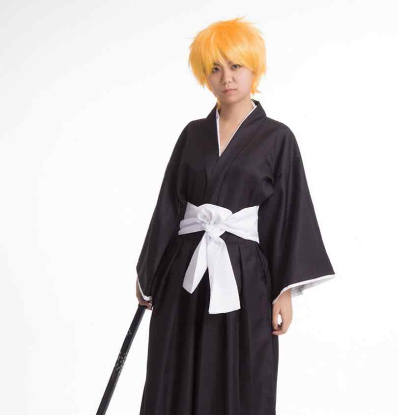 Аниме Костюм «Блич» Черное кимоно с мотивом смерти Carnaval Disfraces костюмы на Хэллоуин для мужчин