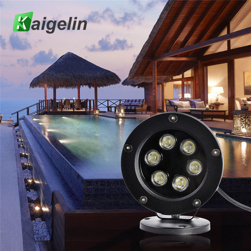 Kaigelin Ac85-265v 6w Led Outdoor Waterproof Spotlight Swimming Pool Underwater Light Fountain Light White Light Led Spot Light Led Underwater Lights Lights & Lighting