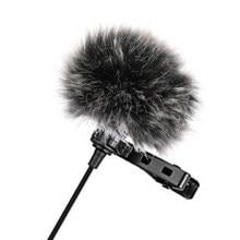 Universal lavalier microfone furry windscreen pele vento muff macio para sony rode boya lapela lapela mic 5mm