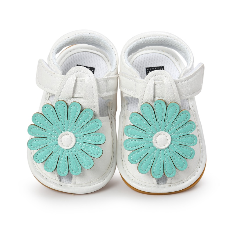 Girls Summer Kids Cute flower Hollow Out Princess Style Flower Breathable Non-slip Soft Bottom Cack Sandal for 0-18 M