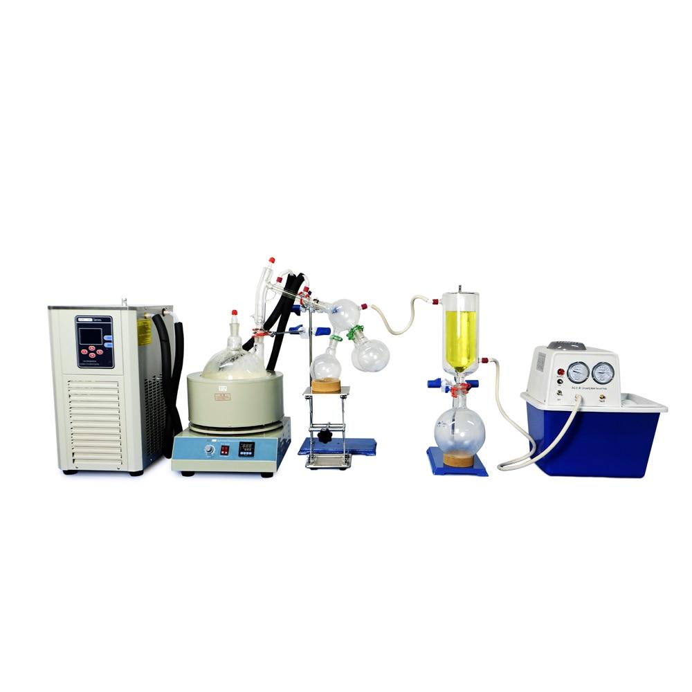 2L Short Path Distillation Kit Complete Turnkey Package w/ Vacuum Pump & Chiller