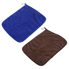 OOTDTY Soft Fishing Towel Quick Dry With Buckles Microfiber Water Absorption Non Stick