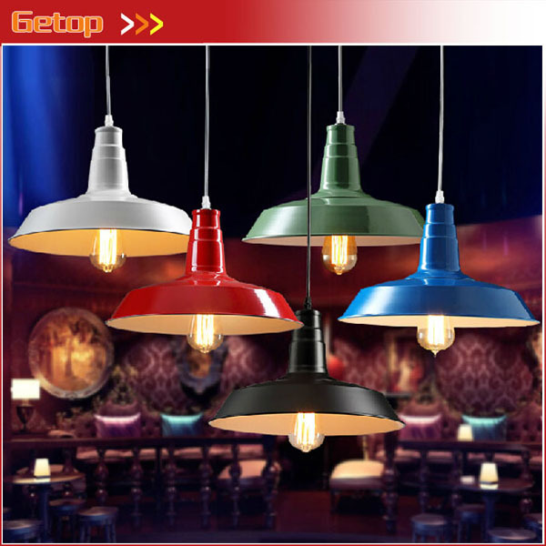 Best Price 1pcs Retro LOFT Lid Pendant Lamp American Country Style Bar Restaurant Light Iron Lighting 5 Colors Free Shipping free shipping 5 pcs nordic restaurant coffee retro shop pendant lights bar loft iron pendant lamp 2d geometric character lamps