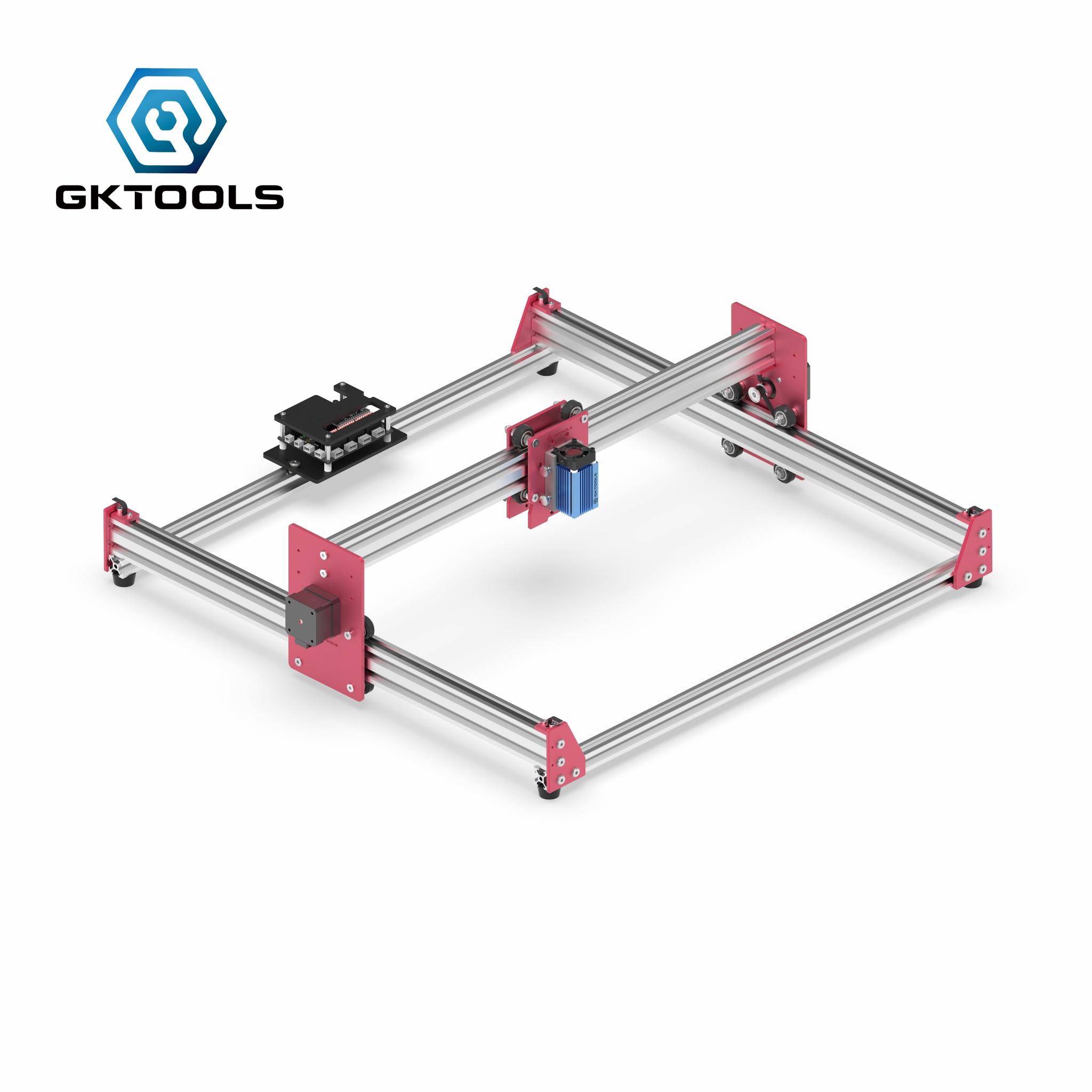 GKTOOLS tout métal 45*45cm 500 mW, 2500mW bois Mini CNC Laser graveur Cutter gravure bricolage Machine PWM, Benbox GRBL EleksMaker