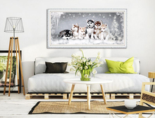 2016 DIY Diamond Painting Group Huskies wolf Crystal Cross Stitch Mosaics Embroidery Home Decoration Rhinestone Needlework Gift