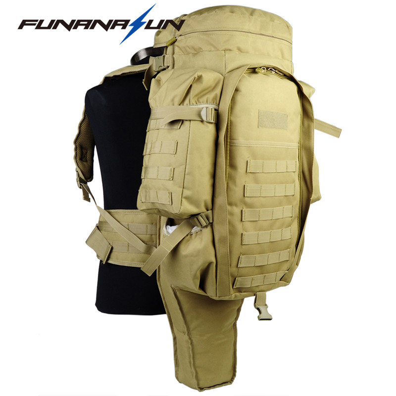 Tactical USMC Backpack Military Men Large Padded Dual Shotgun Carrying Molle  Backpack Hunting Rifle Gun Rucksack Trekking Bag 47 tactical hunting padded rifle sniper gun sling carrying case black