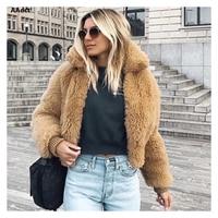 AAdct 2018 Autumn and winter terry fleece women coat lambskin thick short female Jackets coat