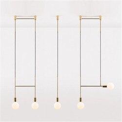 Nordic projektant osobowość twórcza żyrandol proste nowoczesne sztuki salon sypialnia lampki nocne z kutego żelaza linii żyrandol