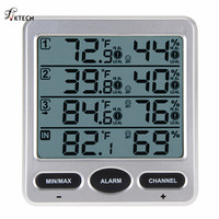 WS-10 Ambient Weerstation Draadloze LCD Digitale Thermometer Hygrometer Indoor/Outdoor 8 Kanaals Thermo Hygrometer Tester