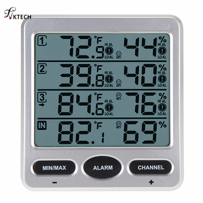 WS-10 Umgebungs Wetter Station Wireless LCD Digital Thermometer Hygrometer Indoor/Outdoor 8 Kanal Thermo Hygrometer Tester
