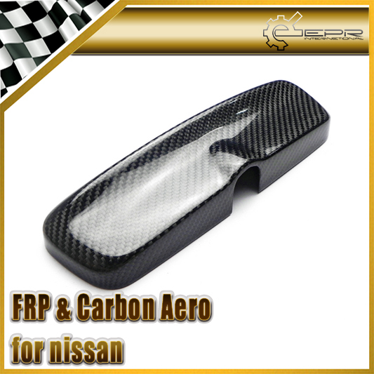 New Car Styling For Nissan Skyline GTR GTST Spec 1 R33 4 Door R34 All Model Carbon Fiber Room Rear View Mirror Cover new 2pcs side mirror cover for nissan skyline r34 gtt gtr carbon fiber car accessories car styling