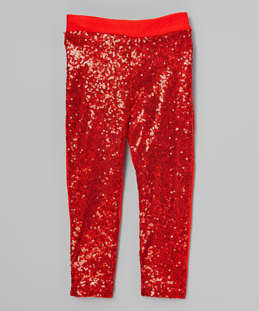 Girls Red Sparkle Pants Sequin Leggings , Birthday Pant kids Fshion ( 5  pieces / lot - Girls Red Sparkle Pants Sequin Leggings , Birthday Pant Kids