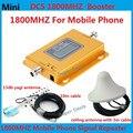 Display LCD! Mini DCS 1800 MHZ booster, 4G LTE repetidor de sinal de celular, DCS amplificador de sinal de telefone móvel + yagi & antena de teto