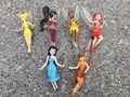 "Original 6pcs Set Tinker Bell Fairy 3"" Dolls Figures PVC New Loose"
