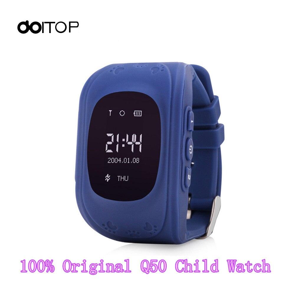 Doitop дети Q50 GPS Смарт-часы Наручные часы фунтов анти-потерянный Multi-Функция SmartWatch для iPhone Android телефон Reloj inteligente