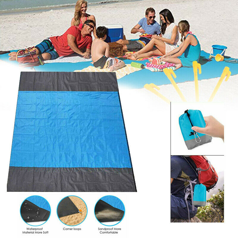 210x200cm Sand Free Beach Mat Outdoor Picnic Blanket Rug Sandless Mattress Pad