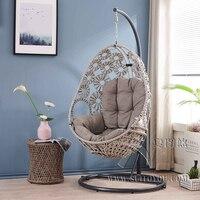 Висит подушка для кресла качели колыбель Птичье гнездовая корзина коврик плетеное кресло для взрослых кресло качалка подушки Крытый