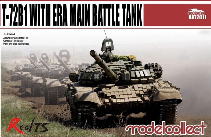 RealTS Modelcollect MODEL 1/72 UA72011 T-72B1 With ERA Main Battle Tank Plastic Model Kit