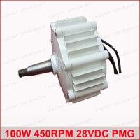 100W 450RPM 28VDC horizontal wind & hydro alternator/ permanent magnet water power dynamotor hydro turbine new energy alternator