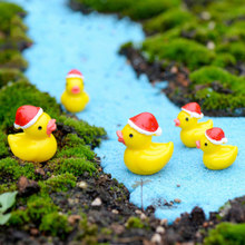 ZOCDOU Duck Quacker Christmas Day Hat Cute Small Statue Home Decoration Accessories Miniature Children Decor Crafts Figurines(China)
